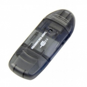 Зчитувач флеш-карт ST-Lab SD/ SDHC/ MMC /RS-MMC (U-371 black) мобільний USB 2.0, чорний, MMC, RS-MMC